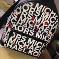 Michael Kors Bags | Michael Kors Backpack Unisex | Color: Red/White | Size: 16.5 X 12 X 5.5 Inches