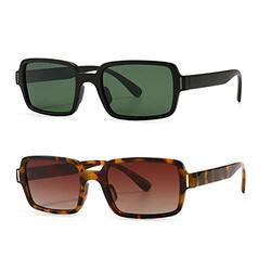 2Pack leopard leopard frame sunglasses women square black orange retro sun glasses for women uv400 hot-selling female 2021 frame sunglasses women square black orange retro sun glasses for women uv400 hot-selling female 2021 (2Pack-leopard&green)
