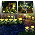 2X Outdoor Garden Solar Power Waterproof Sunflower Lights Yard Path Patio Decor Garden Lights Solar Pathway Lights Garden Solar Lights Solar Landscape Lights Pathway Lights Solar led Outdoor Lights