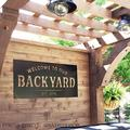 Diuangfoong 1PC Welcome to our Backyard - Established Sign - Backyard - Memories - Custom Metal Sign - metal - Personalized Metal Sign - Home - House