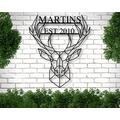 Diuangfoong 1PC Personalized Last Name Metal Sign, Established Family Sign, Deer Name Metal Sign, Metal Family Name Sign, Metal Signs with Last Names