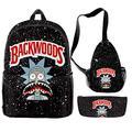 Backwoods Backpack, Backwoods Laptop Bag School Bag Travel Shoulder Bag Book Bags for Boy Girl Men WomenBackwoods Backpack, Backwoods Laptop Bag School Bag Travel Shoulder Bag Book Bags for Boy Girl Men Women (A)