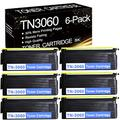 [High Yield] 6 Pks Black TN3060 TN-3060 Compatible Toner Cartridge Replacement for Brother MFC 4750 5750 8500 8600 DCP 1200 1400 HL 1030 1200 1240 1440 1450 8350NLT 9650 1670N Printer Ink Cartridge