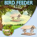 coersd Wooden Bird House Bird Feeder Wooden Birdhouse Garden Bird House Garden Gifts Bird Feeders Outside Hummingbird Feeders for Outdoors Squirrel Proof Bird Feeders Hanging Bird Feeders