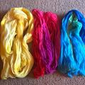 American Eagle Outfitters Accessories | Need Gone: Fun Scarfs Bright Summer | Color: Blue/Pink/Yellow | Size: Os