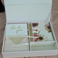 Kate Spade Office   Kate Spade Blushing Floral Thank You Card Box   Color: Pink/White   Size: Os