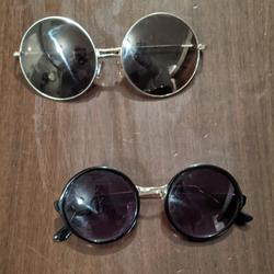 Urban Outfitters Accessories | 2 Pairs Of Round Sunglasses | Color: Black/Gold | Size: Os