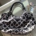 Coach Bags | Coach Bag Black And Silver Shoulder Bag | Color: Black/Silver | Size: 18 Wide And 10 Deep