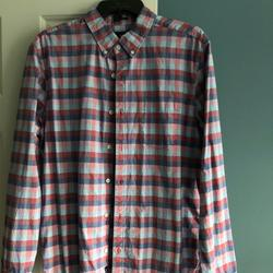 American Eagle Outfitters Shirts | Mens American Eagle Cotton Botton Down | Color: Blue/Red | Size: L