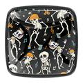 4 Pack 1.18 Inch Kitchen Cabinet Knobs Drawer Knobs Dresser Knobs Crystal Glass Knobs Drawer Pulls Door Knobs Dresser Drawer Handles Knobs for Dresser Drawers,Funny Skeleton Dancing Musical Notes