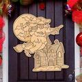 G.DeBrekht 8314010-S3 Witch DIY Coloring Wooden Ornament - Set of 3