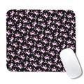 Cute Mouse Pad Black Pink Unicorn Chubby Baby Computer Mousepad Mat Non-Slip Rubber Base Mousepad for Laptop, Computer & PC for Men Women, 10.5 X 12.5 Inches