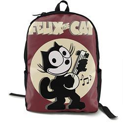 Casual Classic Backpack Cat-Felix Shoulder Backpacks Packable Bags Student Backpack Travel Hiking Camping Daypack Backpack for Men/Women