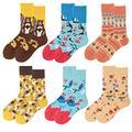 Womens Cotton Socks Size 9-11 Family Socks Matching Sets Socks for Women Funny Novelty Socks for Women Womens Colorful Socks Patterned Crew Socks for Women Womens Ankle Socks Colorful Winter Socks