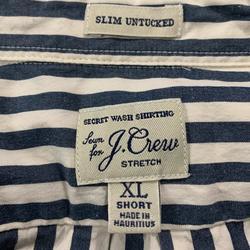 J. Crew Shirts   J Crew Slim Untucked Ls Shirt   Color: Blue/White   Size: Xl