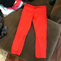 Nike Pants & Jumpsuits | Nike Dri Fit Crop Leggings Size Small | Color: Red | Size: S
