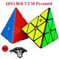 QiYi – autocollant de pyramide magnétique x-man Bell V2 3X3x3, autocollant Cube magique, Puzzle,