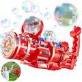 ShiRui Gatling Bubble Machine, 5 Hole Huge Amount Automatic Bubble Maker for Kids, Bubble Gun Toys 2021 Bubble Machine (Red)
