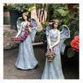 liuliuzuQQ Gardening Resin Angel Crafts, Waterproof Angel Resin Statue, Angel Decorative Ornaments for Patio, Garden, Yard, Walkway (B)