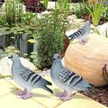 DAUERHAFT 2pcs Blue Grey Pigeon Waterproof Paint Simulation and Vividly Figurine Decor Pigeon Figurine Decor,Garden Decor