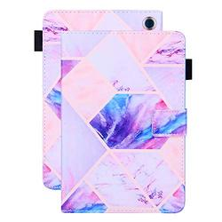 Kindle Fire HD 8 Case 10th Generation, Kindle Fire HD 8 Plus 10th Generation Case, APOLL Auto Wake Sleep Pen Holder Shock Absorption Soft TPU Back Case for All-New Fire HD 8/HD 8 Plus, Purple Marble