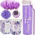 17th Birthday Tumbler, 17th Birthday Gifts for Girl, 17 Birthday Gifts, Gifts for 17th Birthday Girl, 17th Birthday Decorations, Happy 17th Birthday Candle, 17th Birthday Party Supplies