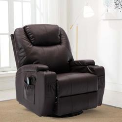 Ebern Designs Rocker Recliner Chair w/ Massage & Heat in Brown, Size 43.2 H x 33.5 W x 35.82 D in   Wayfair 2E30AE9BC4174FCA8D16152D46678CF5