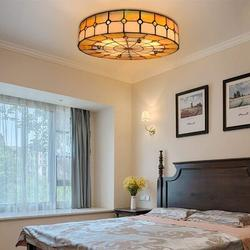 Darby Home Co Demelza Hand-Painted Glass Ceiling Lamp, All Hand-Made Recessed Lamps, Equipped w/ Colored Mother-Of-Pearl Round Lampshades   Wayfair