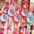 My Little Pony – montre-bracelet en silicone pour enfants, jolie montre à quartz, dessin animé,