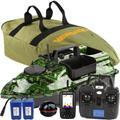 VERY100 – bateau de pêche à appât camouflage sans fil, GPS à écran LCD, détecteur de poissons avec