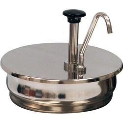 Winco 56752 Condiment Pump for 7 qt Inset Pan, Stainless Steel