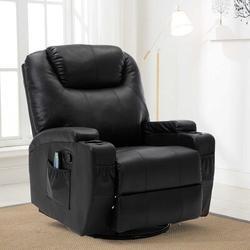 Ebern Designs Rocker Recliner Chair w/ Massage & Heat in Black, Size 43.2 H x 33.5 W x 35.82 D in   Wayfair 5F3AD10932DE40C1898AE3C2E3BFA33B