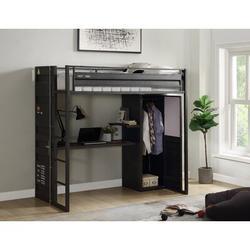Parke Twin Loft Bed w/ Built-in-Desk by Mason & Marbles Metal in Gray, Size 42.0 W x 80.0 D in | Wayfair CEAAE9D1471446BAB866D875C54A65B4