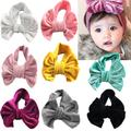 Turban en velours doux pour bébés filles, 8 pièces, bandeau noué, pour enfants en bas âge