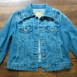 Michael Kors Jackets & Coats   Embroidered Jean Jacket By Michael Kors   Color: Blue   Size: M