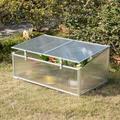 "Gardenised 47.05"" W x 20.58"" D Mini Greenhouse Polycarbonate Panels/Plastic | Wayfair QI003907"