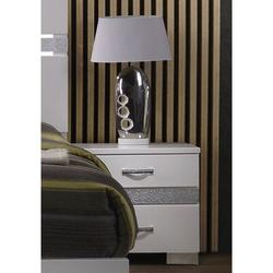 Everly Quinn Naima II Nightstand InHigh Gloss 26773 (Only Nightstand) in White, Size 25.9843 H x 25.1969 W x 18.1102 D in   Wayfair