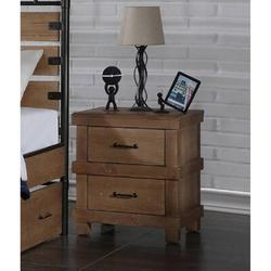 Loon Peak® Adams Nightstand In Antique Oak 30613 (Only Nightstand), Size 27.1654 H x 24.0157 W x 20.0787 D in | Wayfair