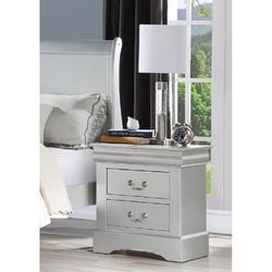 Alcott Hill® Ozuna 1 - Drawer Solid Wood NightstandWood in Gray, Size 27.1654 H x 22.8346 W x 18.1102 D in | Wayfair