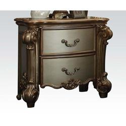 House of Hampton® Vendome Nightstand In Gold Patina & Bone 23003 (Only Nightstand) in Yellow, Size 33.0709 H x 37.0079 W x 22.8346 D in   Wayfair