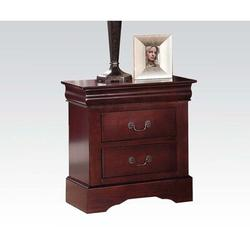 Alcott Hill® Louis Philippe III Nightstand In White 24503 (Only Nightstand)Wood in Brown, Size 27.1654 H x 22.8346 W x 18.1102 D in | Wayfair