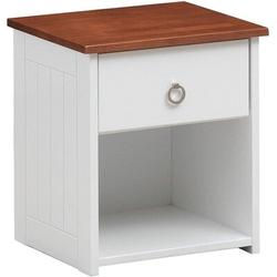 Latitude Run® Farah Nightstand & Oak 30833 (Only Nightstand) in White, Size 20.8661 H x 18.1102 W x 18.1102 D in | Wayfair