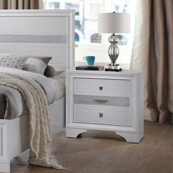 House of Hampton® Naima Nightstand, Gray 25973 (Only Nightstand)Wood in White, Size 29.9213 H x 29.1339 W x 18.8976 D in | Wayfair