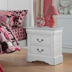 Alcott Hill® Ozuna 1 - Drawer Solid Wood NightstandWood in White, Size 27.1654 H x 22.8346 W x 18.1102 D in | Wayfair