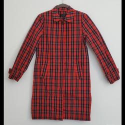 J. Crew Jackets & Coats | Jcrew Red Plaid Trench Coat (Raincoat) | Color: Blue/Red | Size: 00