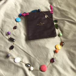 Kate Spade Jewelry | Ks Never Worn, Long Necklace | Color: Blue/Green | Size: Long Necklace
