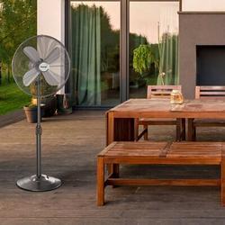 """Unitil 48.5"""" Oscillating Pedestal/Standing Fan in Black, Size 48.5 H x 18.0 W x 14.5 D in   Wayfair 51738460BL"""