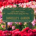 Whitehall Products Butterfly Rose Quote Personalized Garden Sign Metal, Size 17.0 H x 10.63 W x 3.75 D in | Wayfair 1707GG