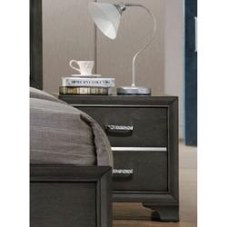 House of Hampton® Carine II Nightstand In26263 (Only Nightstand) in Gray, Size 27.1654 H x 25.9843 W x 18.8976 D in   Wayfair