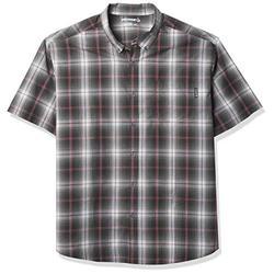 Wolverine Men's Mortar Short Sleeve Shirt (B&T), Shadow Grey Plaid, Extra Extra Extra Large